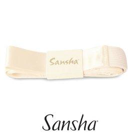 Sansha Sansha satijnen lint met elastiek tussen Pointes