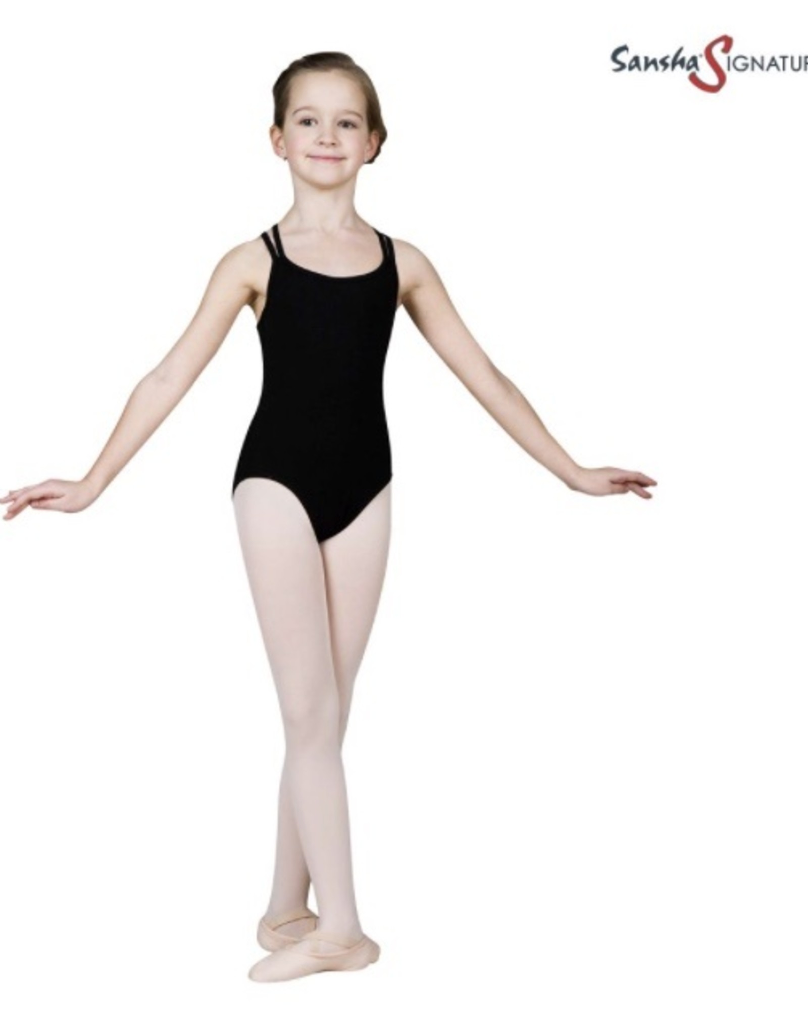 Sansha Zwart danspakje gekruist Sansha Stefani