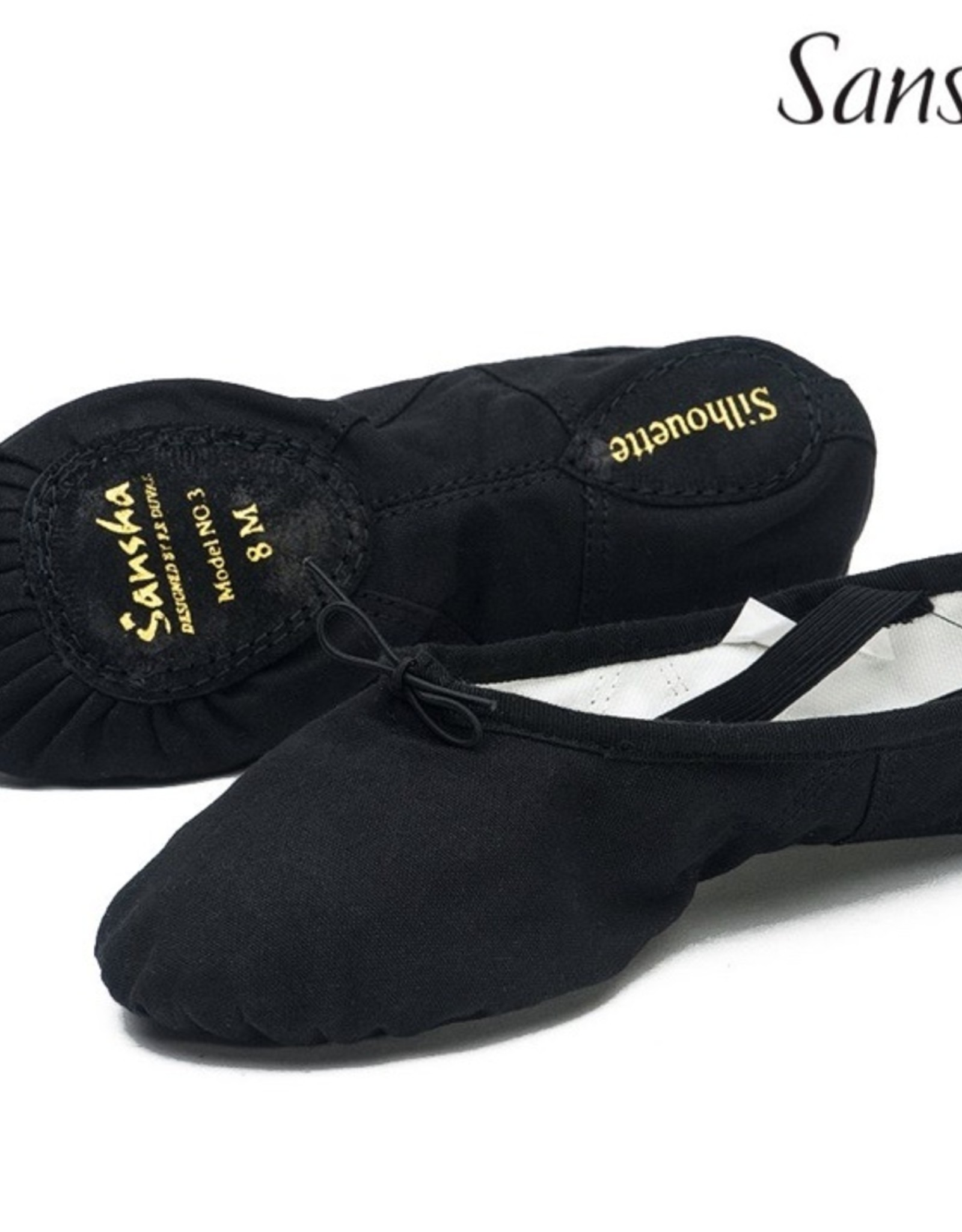 Sansha Zwarte balletsloefjes Sansha Silhouette