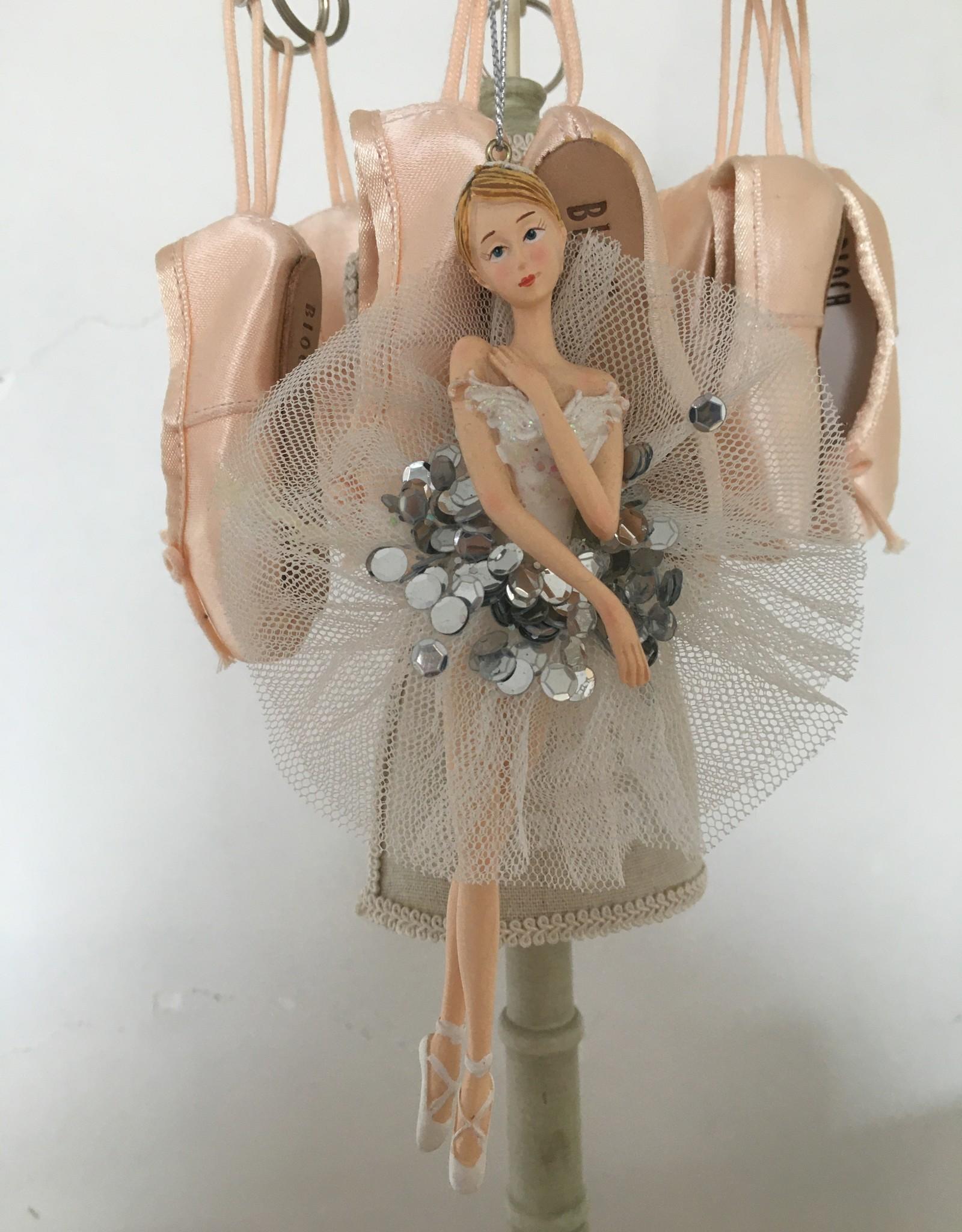 Goodwill Goodwill porseleinen ballerina hanger tutu glitter wit