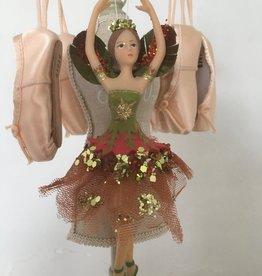Goodwill Goodwill porseleinen ballerina hanger oranje/groen