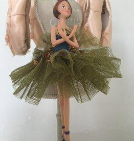 Goodwill Goodwill porseleinen ballerina hanger tutu groen