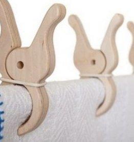 Speelbelovend Grote houten knijper per stuk