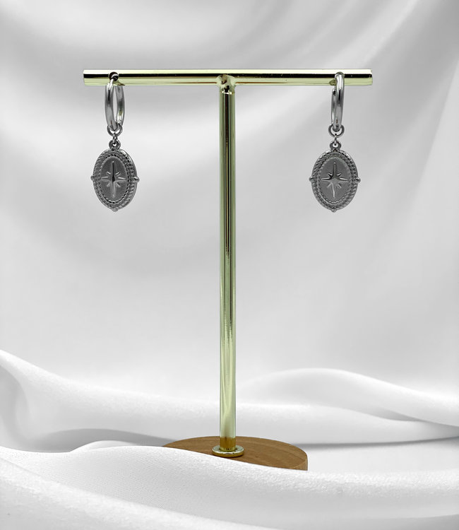 Amulet earrings silver