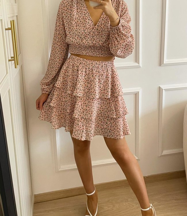 Flowered co-ord pink