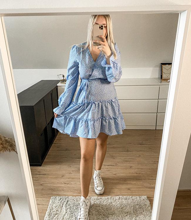Pastel blue flower dress