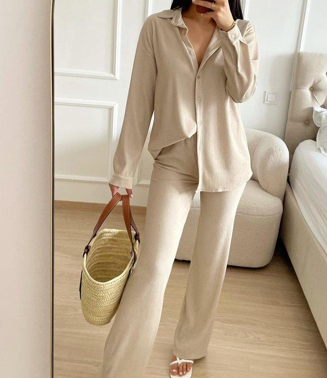 Soft comfy set beige