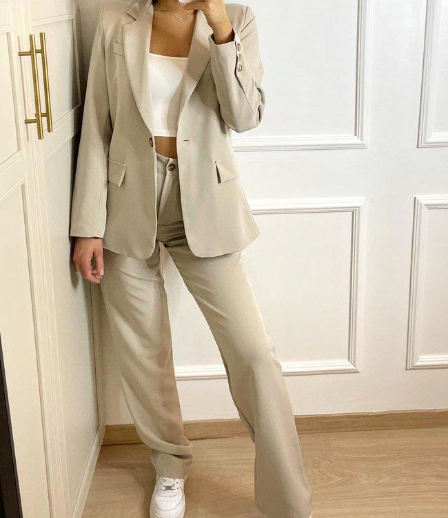 Wide trouser beige