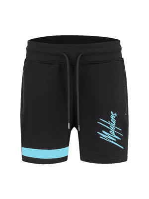 Malelions Short Pablo 2.0 – Black/Light Blue