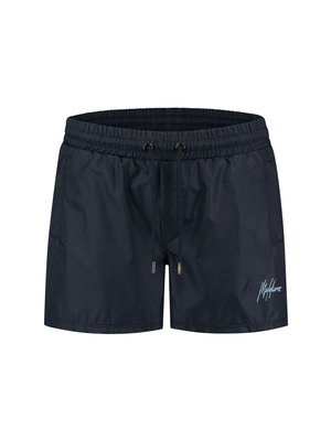 Malelions Swimshort Francisco -  Navy/Light Blue