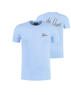 Malelions T-shirt Signature 2.0 - Light Blue