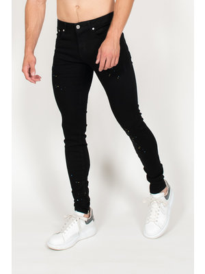 Malelions Jeans Splatter - Black
