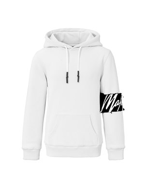 Malelions Junior Junior Captain Hoodie - White/Black