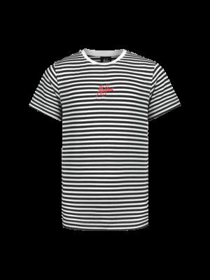 Malelions Junior Junior T-shirt Striped - Black