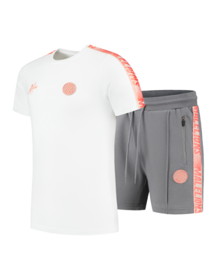 Malelions Sport Twinset Home kit Sport - Salmon/White
