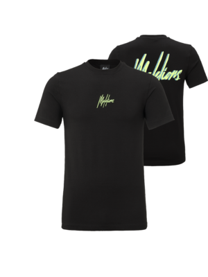 Malelions T-shirt Double Signature - Black