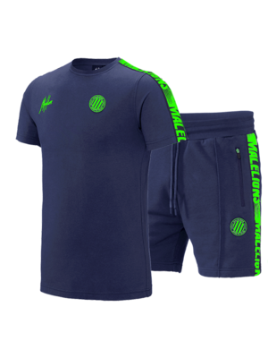 Malelions Sport Twinset Home kit Sport - Navy/Green