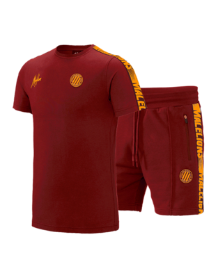 Malelions Sport Twinset Home kit Sport - Bordeaux/Orange
