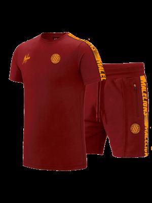 Malelions Sport Twinset Home kit Sport - Bordeaux/Orange