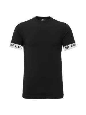 Malelions T-Shirt One Tape - Black/White