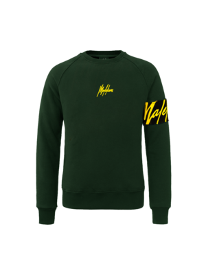 Malelions Crewneck Captain - Army/Yellow