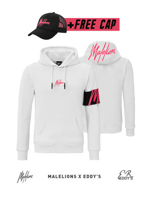 Malelions x Eddy's Malelions x Eddy's Captain Hoodie – White/Neon Red
