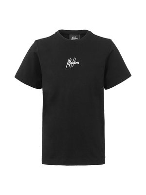 Malelions Junior Junior T-shirt Small Signature - Black/White