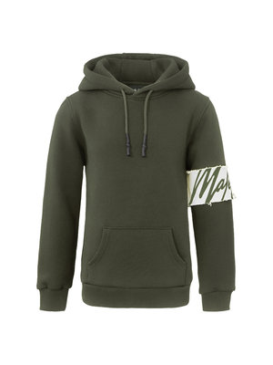 Malelions Junior Junior Captain Hoodie - Army/Off-white