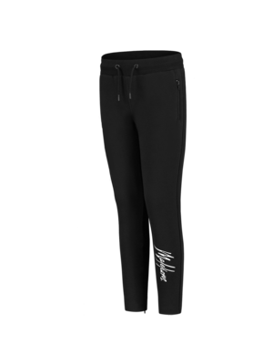 Malelions Junior Junior Trackpants Signature - Black/White