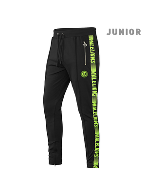 Malelions Junior Junior Sport Pants Warming Up - Black/Yellow