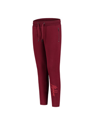 Malelions Junior Junior Trackpants Signature - Bordeaux/Koraal