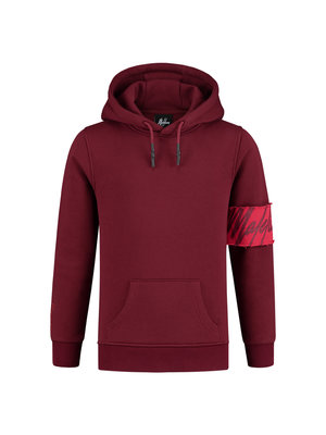 Malelions Junior Junior Captain Hoodie - Bordeaux/Koraal