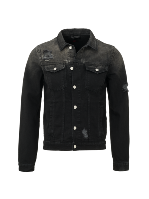 Malelions Denim jacket Signature - Black/TieDye