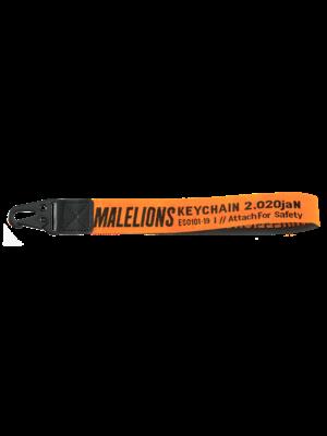 Malelions Keychain - Orange/Black