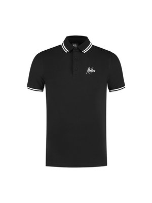Malelions Striped Polo - Black/White
