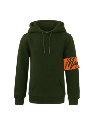 Malelions Junior Junior Captain Hoodie - Army Orange