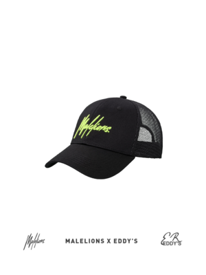 Malelions x Eddy's Malelions x Eddy's Cap Signature – Black/Neon Yellow