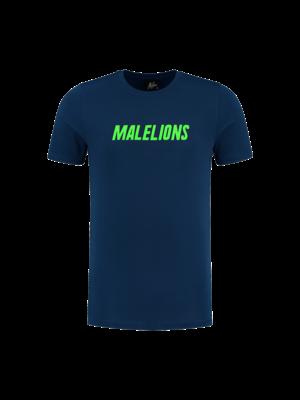Malelions T-Shirt Nium - Navy/Neon Green