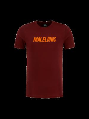Malelions T-Shirt Nium - Bordeaux/Neon Orange