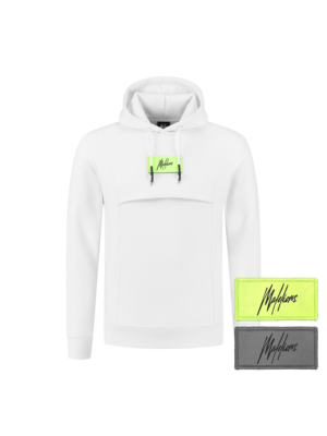 Malelions Velcro Anorak - White