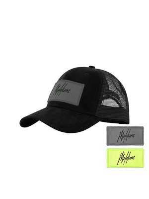 Malelions Velcro Patch Cap - Black Suede