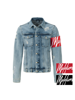 Malelions Captain Denim Jacket - Light Blue