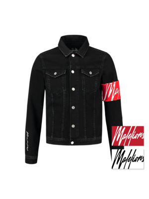 Malelions Captain Denim Jacket - Black