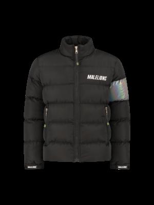 Malelions Sport Reflective Puffer - Black