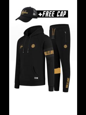 Malelions Sport Sport Captain Tracksuit - Black/Gold (+FREE CAP)