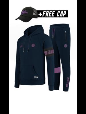 Malelions Sport Sport Captain Tracksuit - Navy/Purple (+FREE CAP)
