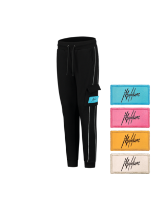 Malelions Junior Junior Velcro Trackpants - Black