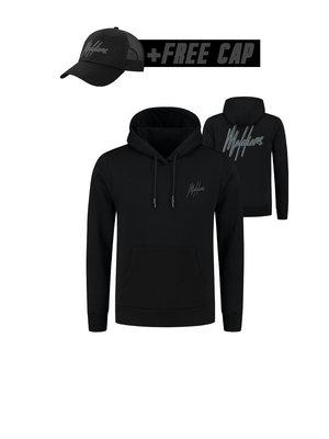 Malelions Signature Hoodie 2.0 - Black/Black (+FREE CAP)