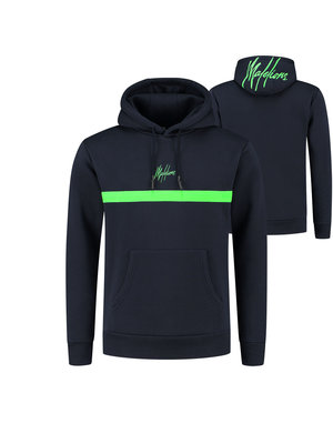 Malelions Tonny Hoodie - Navy/Neon Green