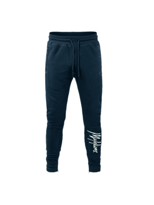 Malelions Trackpants Signature - Navy/Offwhite